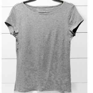 Grace Grey Short Sleeve Top Size Large